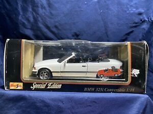 Vintage-1993-Maisto-BMW-325i-Convertible-Special-Edition-1-18-Escala-Replica