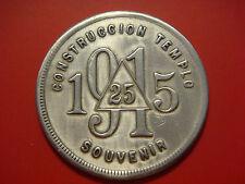 "CONSTRUCCION TEMPLO 25 (in delta) OVER 1915 RESP LOC ""HOLGUIN"" Masonic symbols"