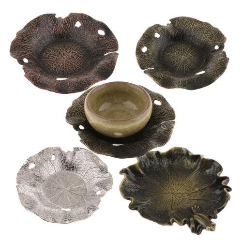 Lotus Leaf ~ Alliage Tasse Coaster Tasse à café mat pour kung fu de thé Accessoires
