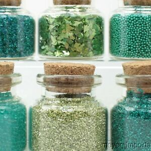 Green-Set-of-Glitter-amp-Beads-311-M-0609-German-Glass-Glitter