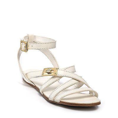 "8579-1 Tory Burch Women's ""Dalcin"" Flat sandals US size 9.5 M Bleach/White $275"