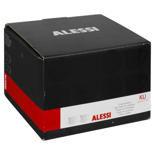 2 4 6 Alessi Ku Tassen /& Untertasse Keramik Espresso Kaffee Porcelaine Set IN