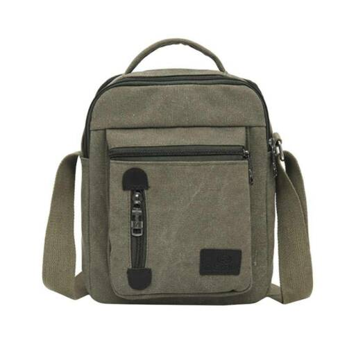 Men/'s Mini Casual Canvas Messenger Shoulder Bag Handbag Travel Crossbody Bag LD