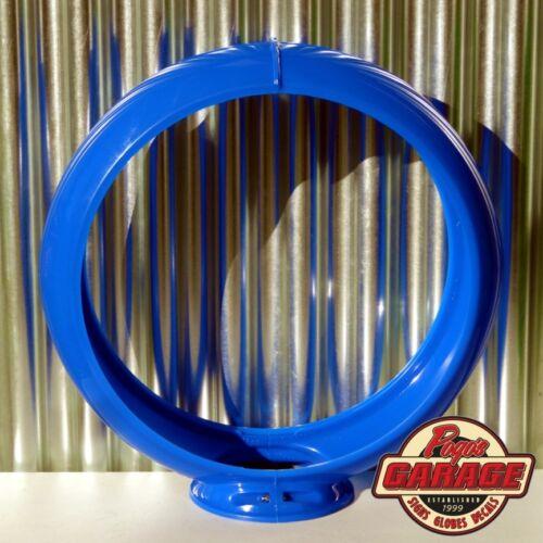"Blue 13.5/"" Plastic Gas Pump Globe Frame Pogo/'s Garage"