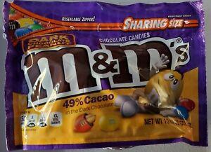 NEW Sealed Dark Chocolate Peanut M&M's 10.10 oz Bag FREE WORLDWIDE SHIPPING