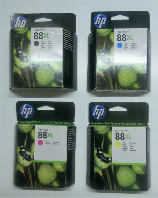 4 X Original HP 88XL Black Cyan Yellow Magenta Officejet Pro L 7555 7550 O. V