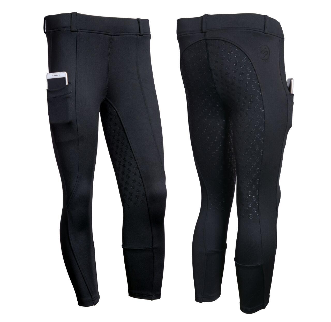 Equitación Pantalones Negro Azul Pantalones De Montar De Asiento Completo Pantalones De Montar Mujer de moda.