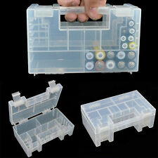 Hard Plastic Battery Case Holder Storage Box for AA AAA Batteries TO
