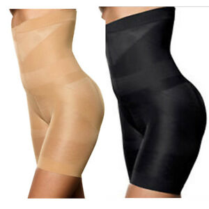c34578817e Image is loading Women-Tummy-Control-Shapewear-High-Waisted-Body-Shaper-