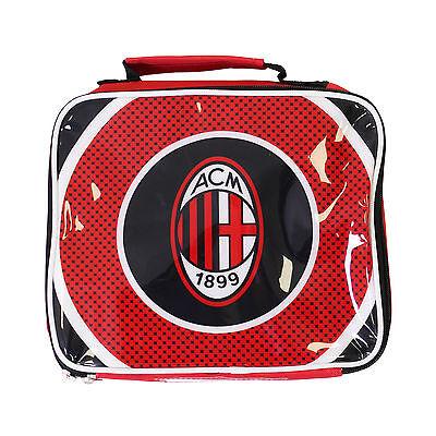 AC Milan Football Club FC Insulated Lunch Bag Box Official Boys Girls Kids