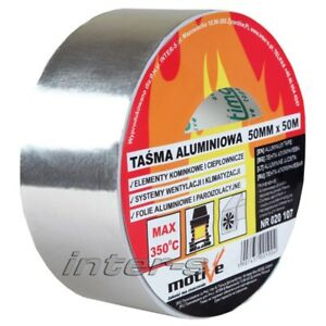 1x-350-C-Alu-Aluband-Aluminium-Klebeband-selbstklebend-Kleberolle