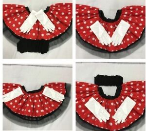 9282ca3ebec5 minnie mouse skirt tutu ears headband bow red white polka dot 80s ...