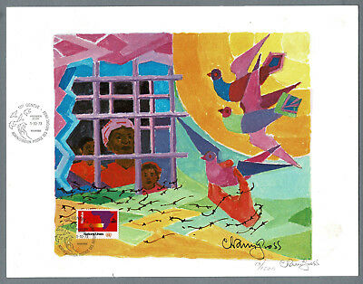 Art Print Imported From Abroad 1973 Wfuna Chaim Gross Early U.n #13/1000