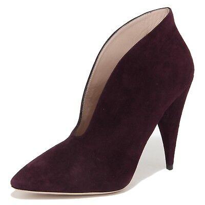 meet 09c1f a8643 4537N scarpa donna MIU MIU tronchetto scamosciato viola shoes boots woman |  eBay