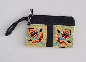Purse-Handbag-Wallet-Women-Long-Embroidered-Zip-Genuine-Ladies-Soft-Case-Money