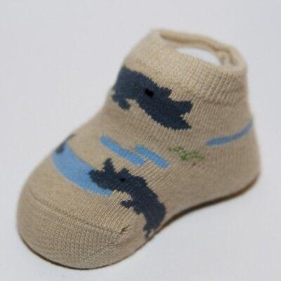 Safari Rhino país Niños Bebé Niños Zapato calcetín Botines 0-12 Meses