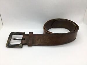 Details about Vintage Distressed American Eagle Brown Leather Belt Mens Size 34