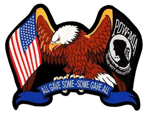Eagle American Flag USA Flag POW MIA Some Gave All Patch 3x4 FAST USA SHIPPING