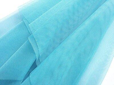 Q43 Turquoise Blue Soft Mesh/Net Fabric Decor by Yard