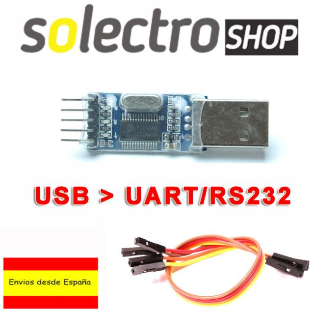 CONVERSOR USB A SERIE RS232 UART TTL 5V + CABLES DUPONT - PL2303HX C0009