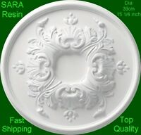 3 X Resin Ceiling Rose Centre Dia 39cm 15 1/4 Inch - Not Polystyrene - Sara