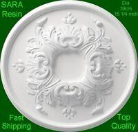 3 X Resin Ceiling Rose Centre Dia 39cm 15 1/4 Inch - Not Polystyrene - Sara