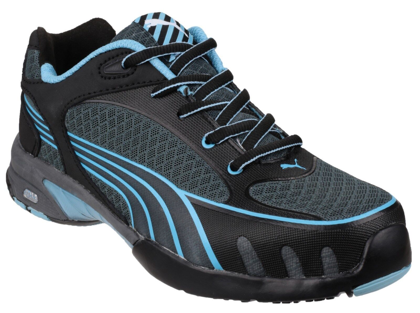 Puma Fuse Work Motion Noir /Bleu Safety femmes Industrial Work Fuse Trainers Chaussures UK2-8 d98244