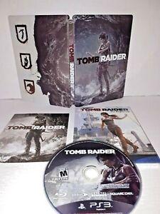Tomb-Raider-Sony-Playstation-3-2013-Comic-Book-amp-Steelbook