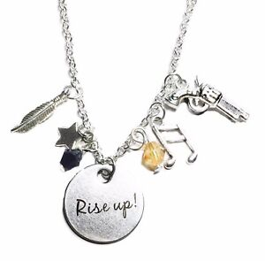 Hamilton Broadway Musical Hand Stamped Rise Up with Star Charm Necklace