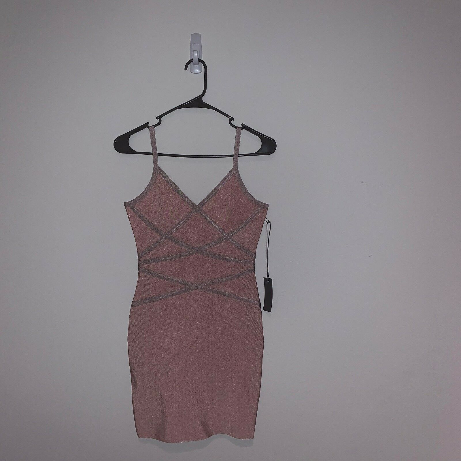Rosa Farbeblock Bodycon Bandage Dress. Größe Medium. NWT.
