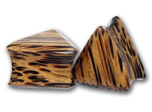 {pia} Double flared triángulo Plug Coconut Wood 6,0-25 mm pendiente túnel