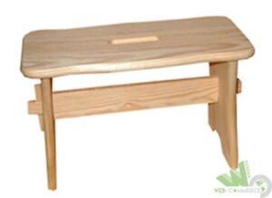 Pezzi sgabello basso in legno di pino cm h poggiapiedi