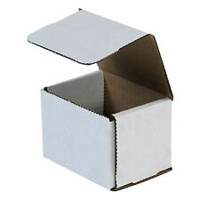 50 4x3x3 Small White Corrugated Cardboard Packaging Shipping Mailing Box Boxes