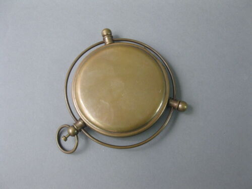Brünierter Messingkompass 8cm Kompass Sprungdeckel