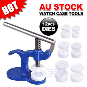 Watch-Case-Press-Kit-12-Dies-Back-Cover-Closer-Watchmaker-Replacement-Tool-Set