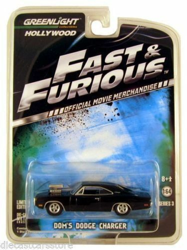1 64 verdelight Hollywood  44630 Doms Dodge Charger From Fast & Furious