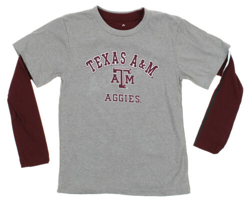 Outerstuff NCAA Youth Texas A/&M Classic Fade 2 Shirt Combo Pack Grey