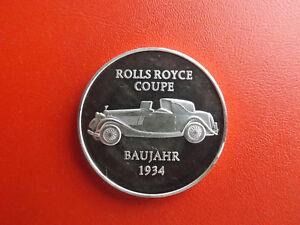 *automobil - Rolls Royce Coupe 1934 *silber Münze/medaille Ca.15g.(1000)(schub9)