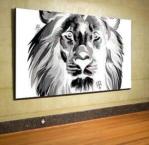 xxl panorama leinwand 160x94x5 l we newsprint bild schwarz. Black Bedroom Furniture Sets. Home Design Ideas
