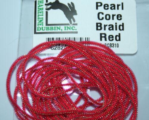 Hareline Pearl Core Braid Fly O11