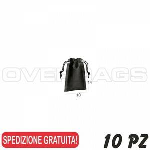 cm 10x14 50 PZ Sacchetto Custodia Confetti PELLETTERIA in TNT Rosso OVERBAGS
