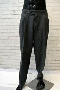 Pantalone-Uomo-HUGO-BOSS-Taglia-48-Pants-Man-Lana-Vergine-Grigio-Jeans