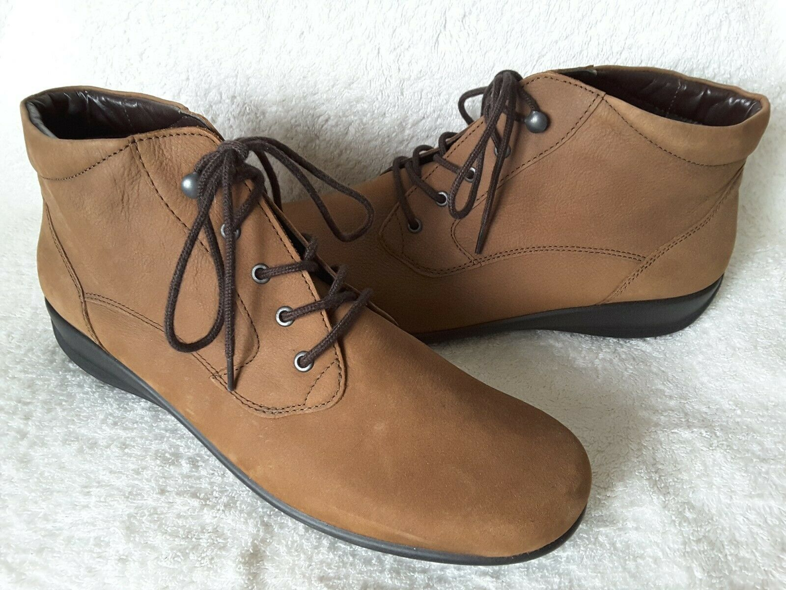 Rohde marron Nubuck Daim Lacets Cheville Bottes UK 8 Brand New without tags
