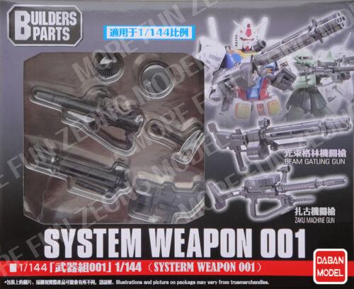 002 Builders parts for Bandai 1//144 HG RG Gundam Daban System Weapon 001