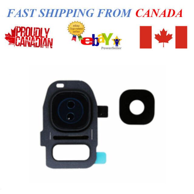 Samsung Galaxy S7 S7 Edge SM-G930W8 SM-G935W8 Camera Lens with Frame Black