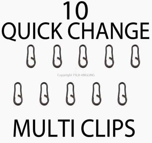 10 nouveau changement rapide multi clip liens-pêche à la carpe tackle-rigs clips grossier