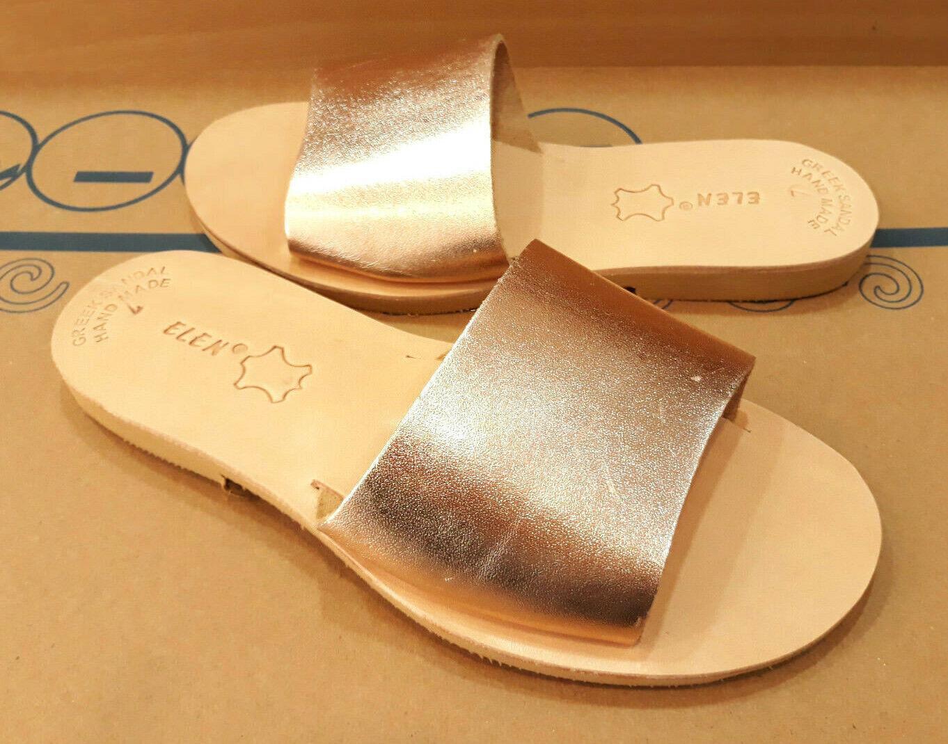 Ancient Greek donna Sandals Roman Leather Handmade scarpe scarpe scarpe Gladiator Slide Dimensione 4a3756