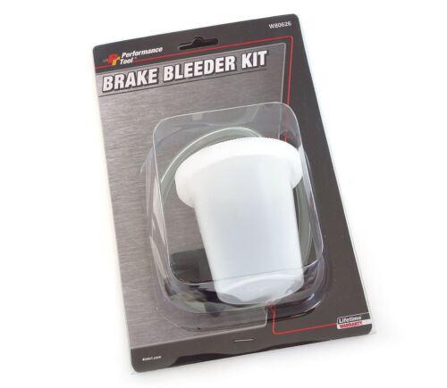 Performance Tool W80686 Self Brake Bleeder Kit 3 Adapters
