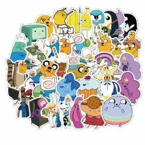 50 pcs Adventure Time Kids Cartoon Laptop Phone Skateboard Stickers Decals.