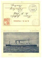 NED INDIE S.M.N. 1929-2-21  POSTBLAD = S.S. JOHAN DE WITT= POSTAGENT VF